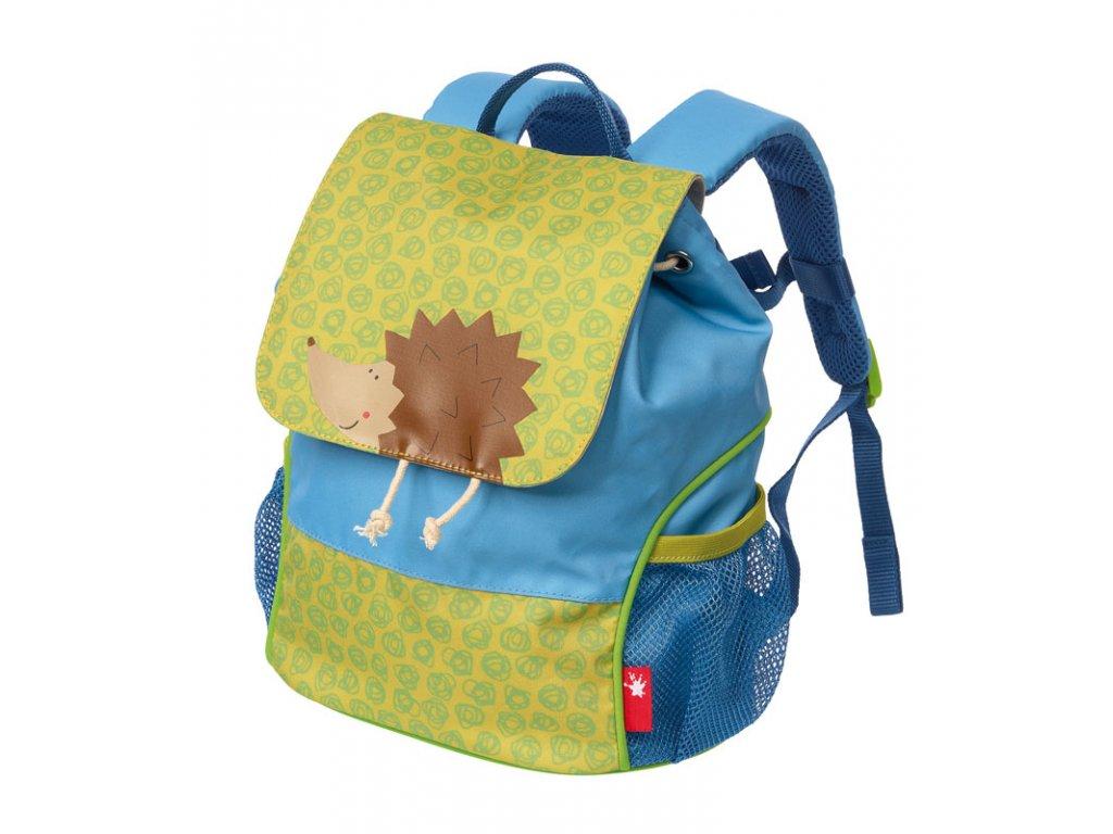Kvalitní nylonový, komfortní a propracovaný dětský batoh pro předškoláky Mini batoh Sigikid Ježek v modré barvě