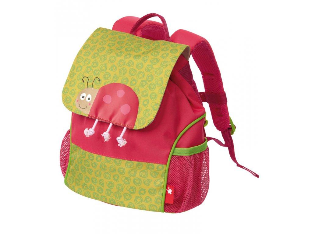 Kvalitní nylonový, komfortní a propracovaný dětský batoh pro předškoláky Mini batoh Sigikid Beruška ve vínové barvě