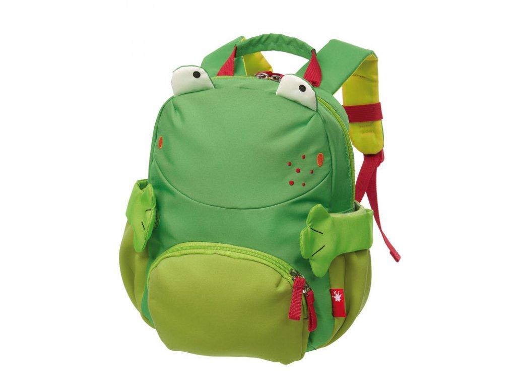 Kvalitní nylonový, komfortní a propracovaný dětský batoh pro předškoláky Mini batoh Sigikid Žába v zelené barvě