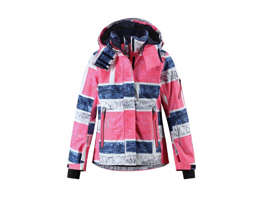 Dětská membránová bunda Reima Frost strawberry red - OUTDOORBABY 16b069202d