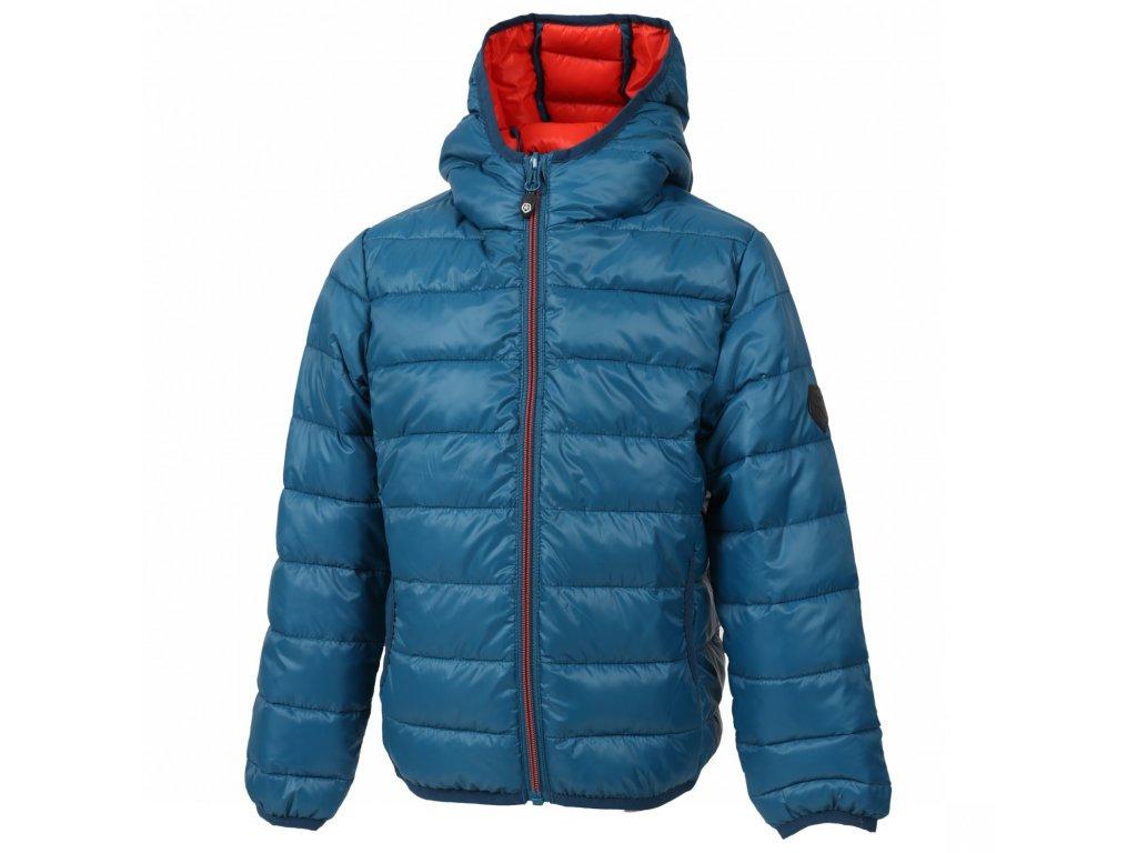 Kvalitní dětská zimní zateplená bunda s odnímatelnou kapucí a reflexními prvky Color Kids Dirico moroccan blue v modré barvě