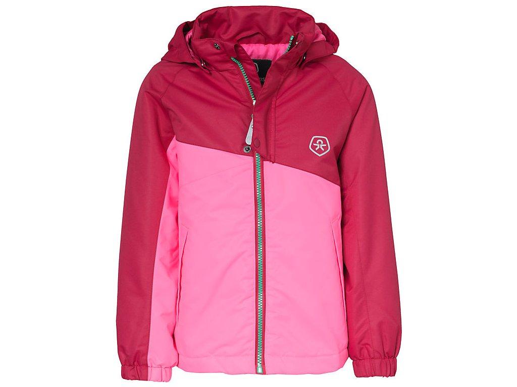 Kvalitní dětská zimní membránová bunda s odnímatelnou kapucí a reflexními  prvky Color Kids Dahlia rasberry ve 7f39ac2d6d
