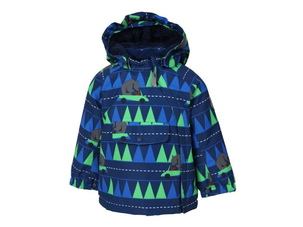 Kvalitní dětská zimní zateplená bunda s odnímatelnou kapucí a reflexními prvky Color Kids Raidoni estate blue v modré barvě