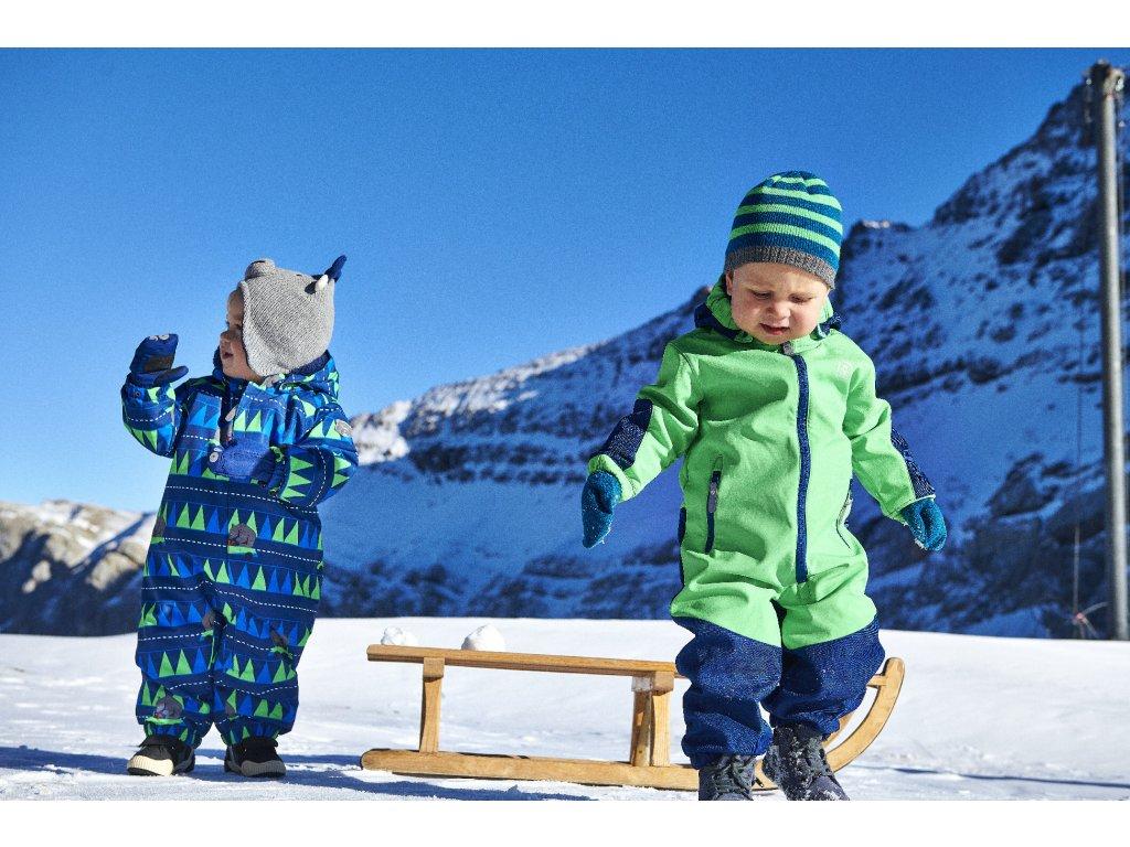 918262d62d7 Kvalitní dětský zimní overal s odnímatelnou kapucí a reflexními ...