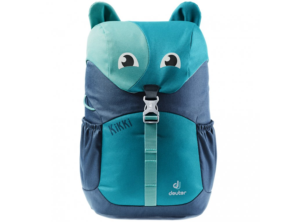 Kvalitní nylonový, komfortní a propracovaný batoh pro předškoláky Deuter Kikki petrol-midnight v tyrkysové barvě