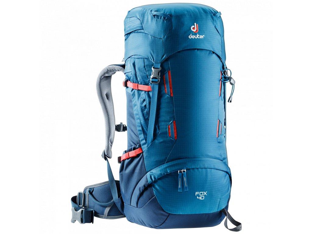 Kvalitní nylonový, komfortní a propracovaný turistický batoh pro děti Deuter Fox ocean-midnight v modré barvě