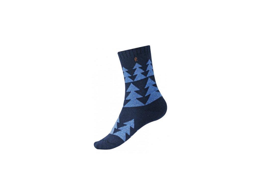 Kvalitní dětské vlněné zimní ponožky Reima Snowflower v modré barvě