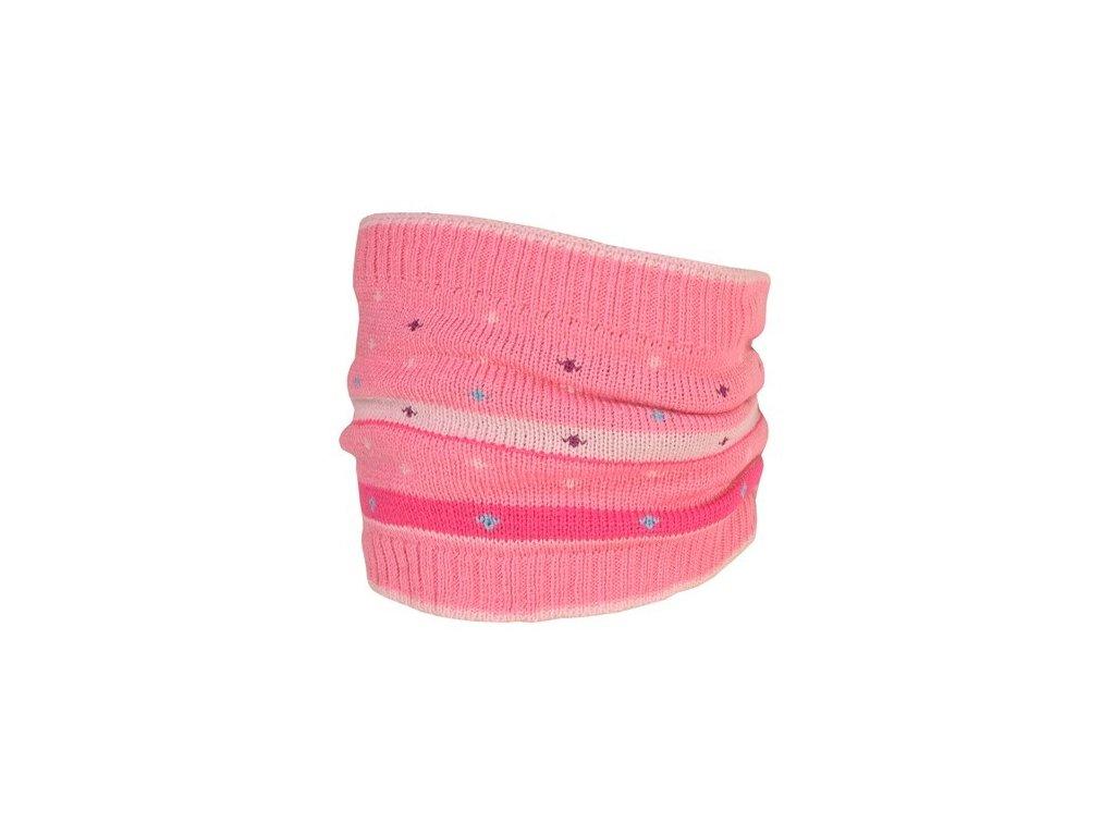 Kvalitní dětský zimní bavlněný nákrčník Maximo v růžové barvě  db11995e1c