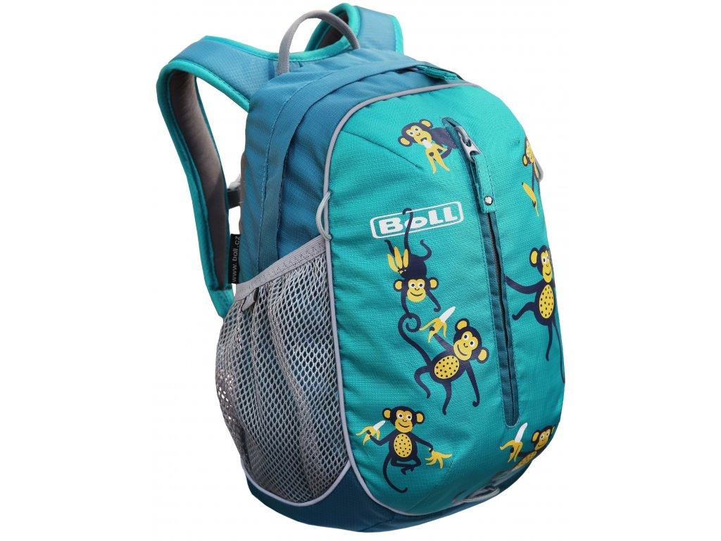 Kvalitní nylonový, komfortní a propracovaný batoh pro předškoláky a mladší školáky Boll Roo 12L turquoise v tyrkysové barvě