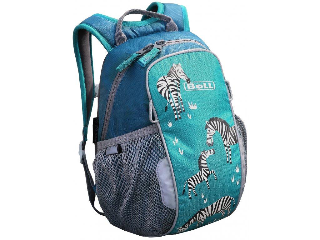 Kvalitní nylonový, komfortní a propracovaný batoh pro předškoláky Boll Bunny 6L turquoise v tyrkysové barvě