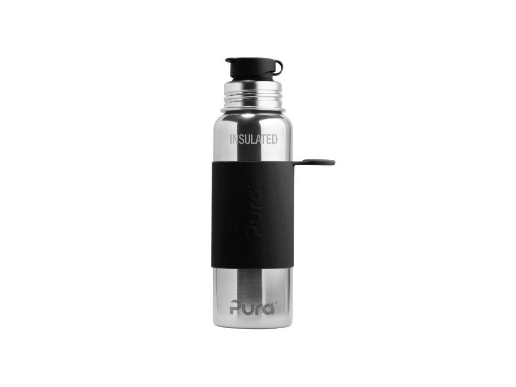 Kvalitní termoska bez plastových částí se sportovním uzávěrem Pura Termo 650 ml v černé barvě