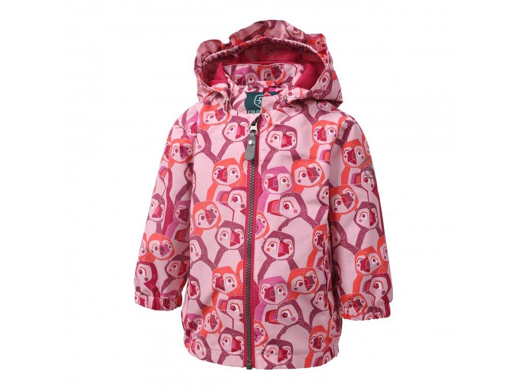 Kvalitní dětská nepromokavá jarní bunda s kapucí a reflexními prvky Color Kids Estelle Pink Nectar ve světle růžové barvě