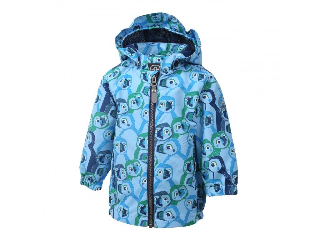 Kvalitní dětská nepromokavá jarní bunda s kapucí a reflexními prvky Color Kids Estelle Ocean v modré barvě