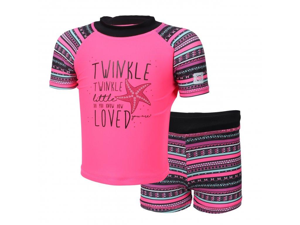 Kvalitní dětský plavecký set s UV filtrem 40+ Color Kids Edy Candy Pink v růžové barvě