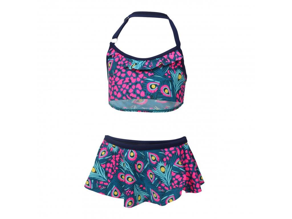 Kvalitní dívčí 2-dílné rychleschnoucí plavky s UV ochranou Color Kids Tracy Estate Blue