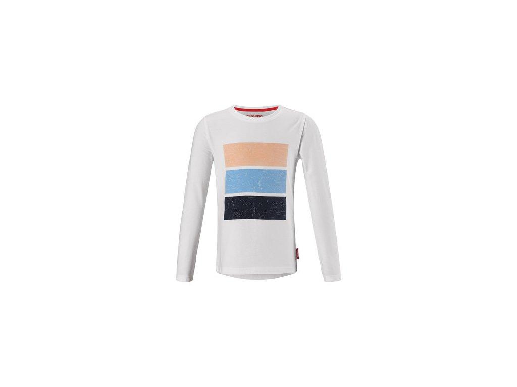 Kvalitní dětské funkční tričko UPF 40+ s dlouhým rukávem Reima Styrbord White v bílé barvě
