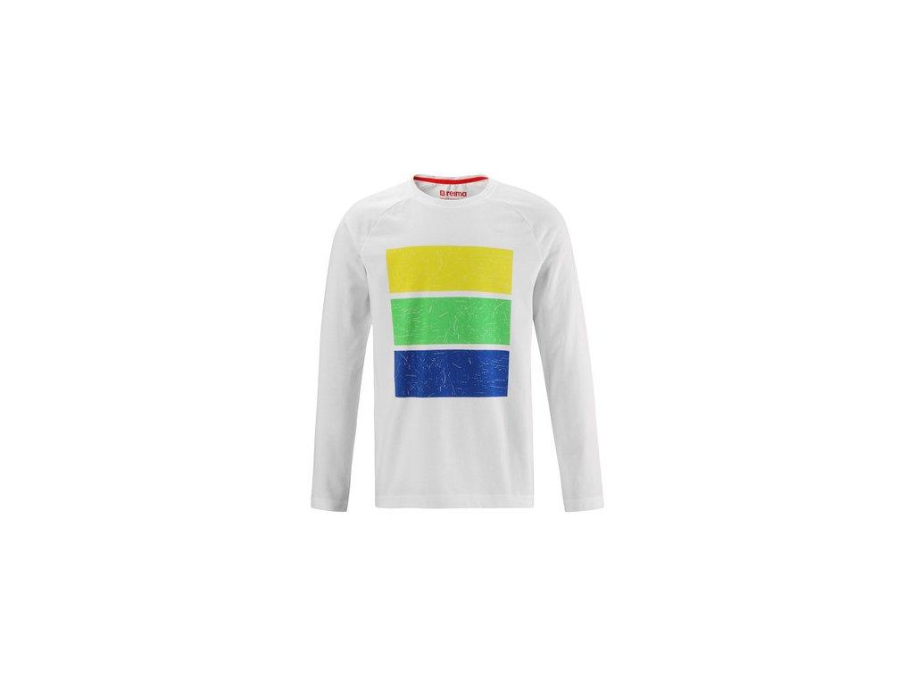Kvalitní dětské funkční tričko s dlouhým rukávem Reima Kortelli White v bílé barvě