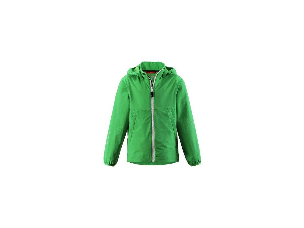 Kvalitní dětská outdoorová bunda s povrchovou úpravou odpuzující komáry, kapucí a reflexními prvky Anti - Mosquito bunda Aboard Brave green v zelené barvě | kde dobrodružství začíná | outdoorbaby.cz