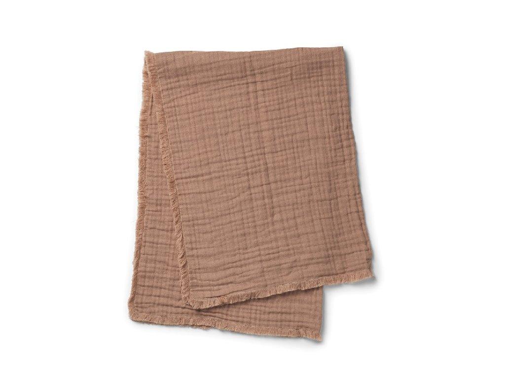 Kvalitní dětská bavlněná deka Elodie Details - Faded Rose v hnědé barvě
