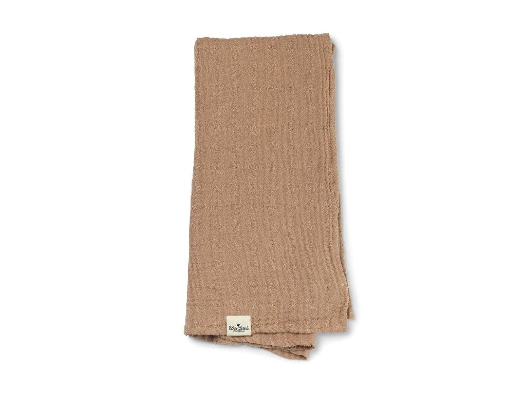 Kvalitní dětská deka z bambusového mušelínu Elodie Details - Faded Rose v hnědé barvě