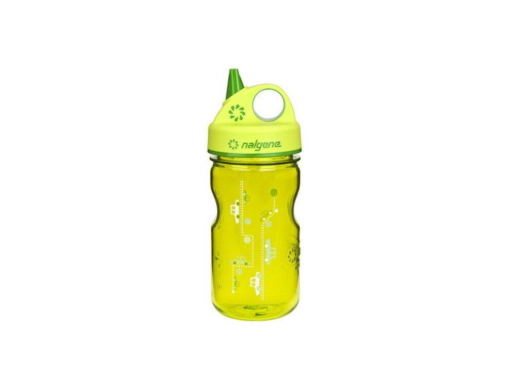 Kvalitní dětská plastová láhev bez BPA Nalgene Grip n´Gulp v zelené barvě