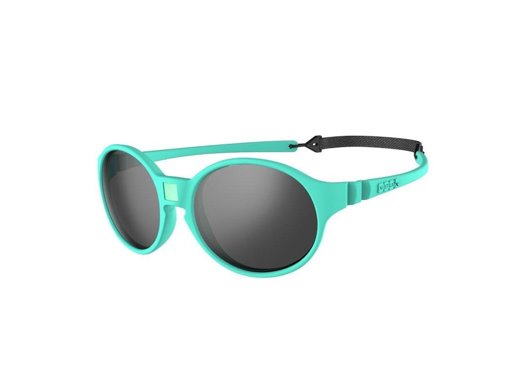 Kvalitní dětské sluneční brýle s ochranou před UVA i UVB zářením KiETLA Jokakids 4-6 let v mentolové barvě