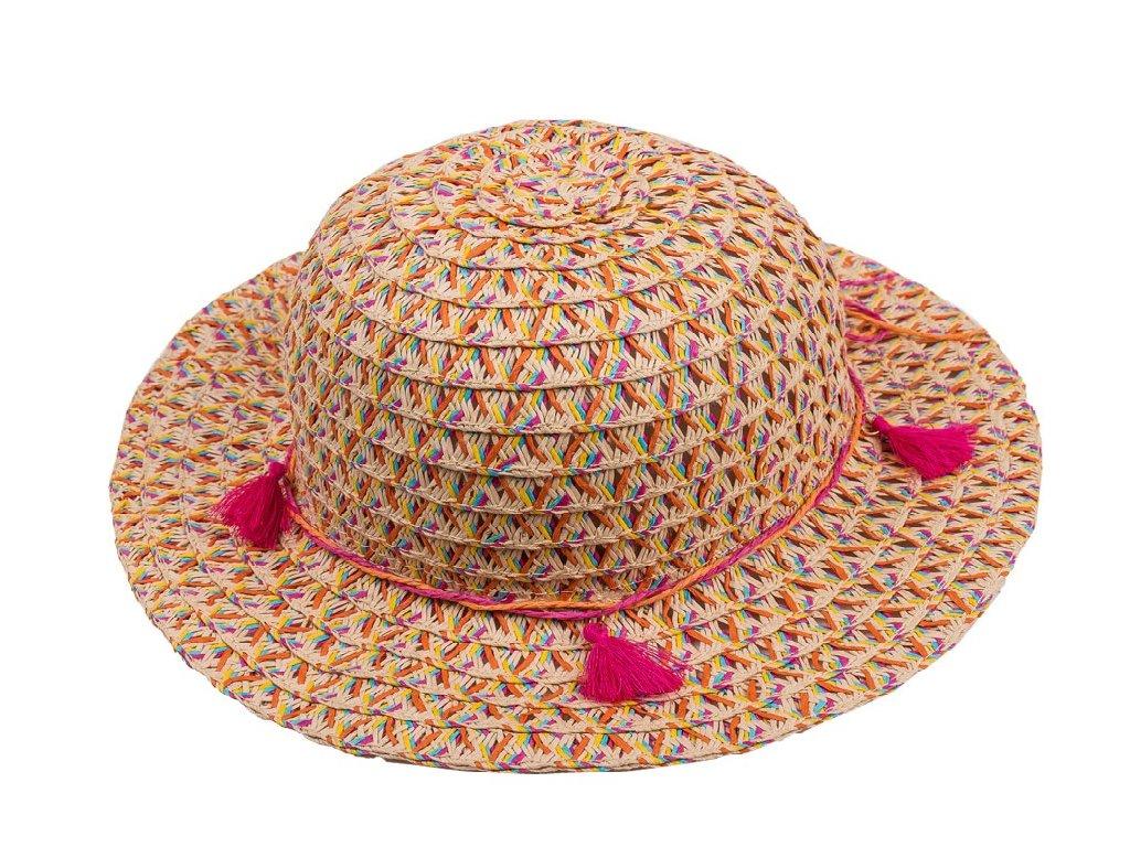 Kvalitní dívčí letní klobouk Maximo s třásněmi