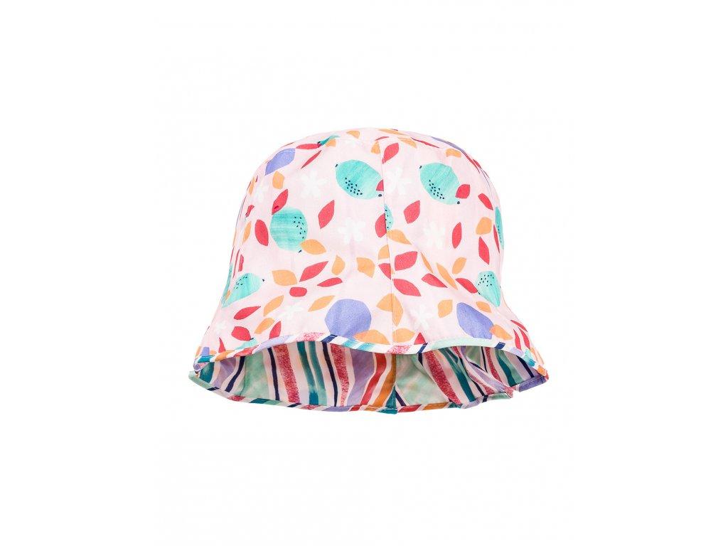 Kvalitní dívčí letní oboustranný klobouk s UV ochranou Maximo proužek