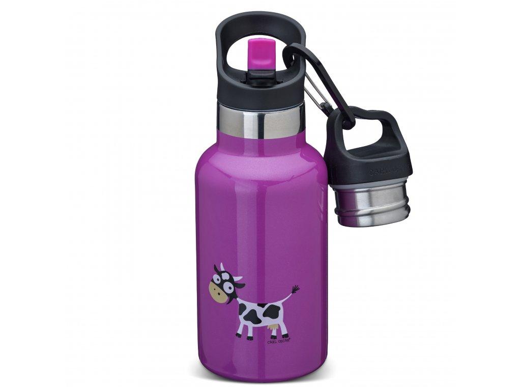 Dětská termoska TEMPflask™ Carl Oscar® fialová - kravička