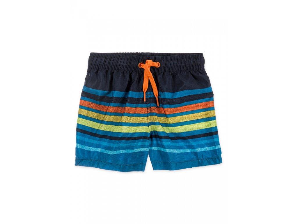 Kvalitní chlapecké rychleschnoucí šortkové plavky s UV ochranou Losan modré s proužkem