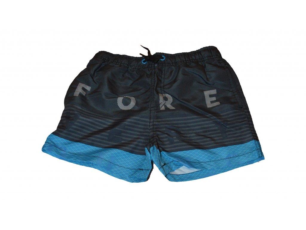 Kvalitní chlapecké rychleschnoucí šortkové plavky s UV ochranou Losan černo-modré