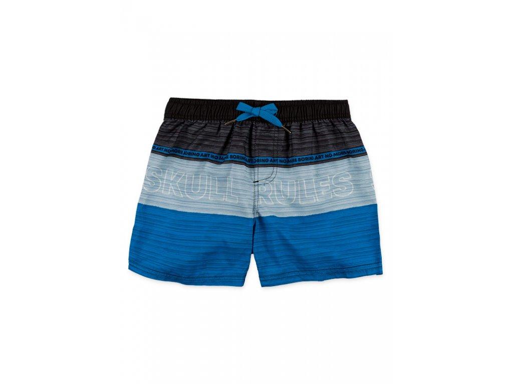 Kvalitní chlapecké rychleschnoucí šortkové plavky s UV ochranou Losan modro-černé pruhy
