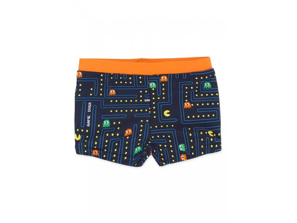 """Kvalitní chlapecké rychleschnoucí šortkové plavky s UV ochranou Losan tm. modré """"gameover"""""""