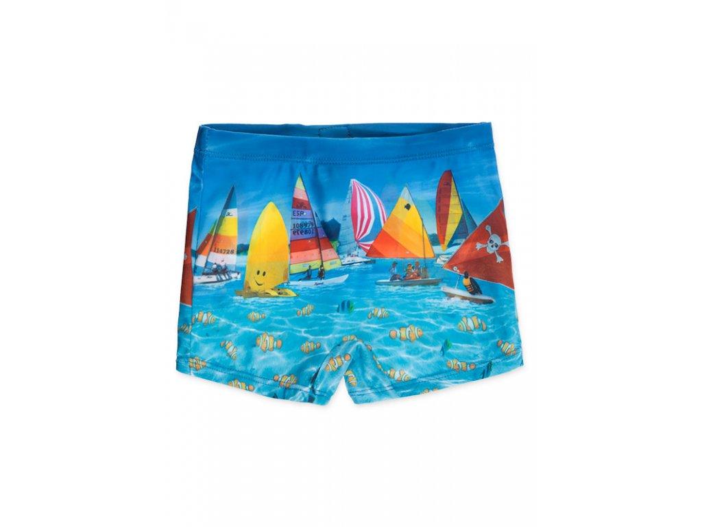 Kvalitní chlapecké rychleschnoucí šortkové plavky s UV ochranou Losan tyrkysové