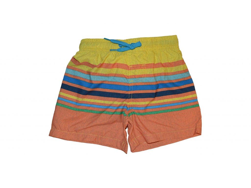 dd6579a3b Kvalitní chlapecké rychleschnoucí šortkové plavky s UV ochranou Losan  oranžové s proužkem