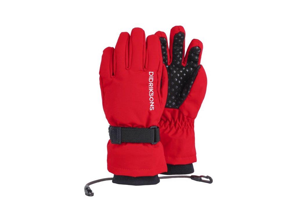 rukavice d1913 biggles five prstove detske cervena