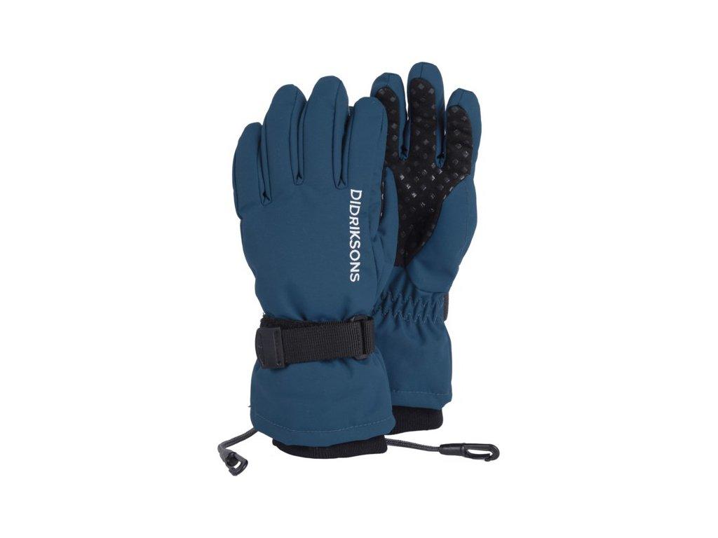 rukavice d1913 biggles five prstove detske modra 1