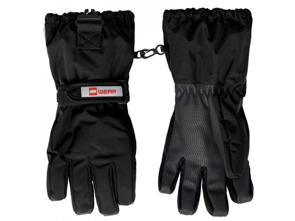Dětské zimní rukavice LEGO® Wear Alfred černé