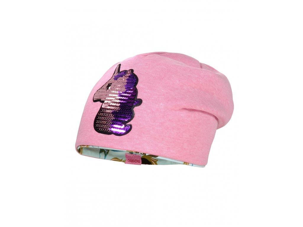 Dětská bavlněná čepice Maximo jednorožec