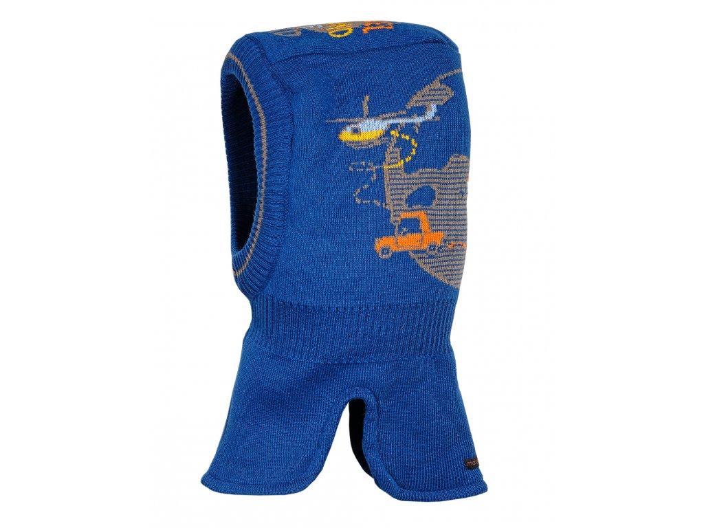 Dětská pletená kukla Maximo travel tmavě modrá