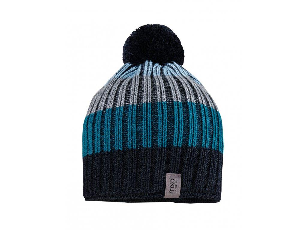 Dětská vlněná čepice Maximo modrá