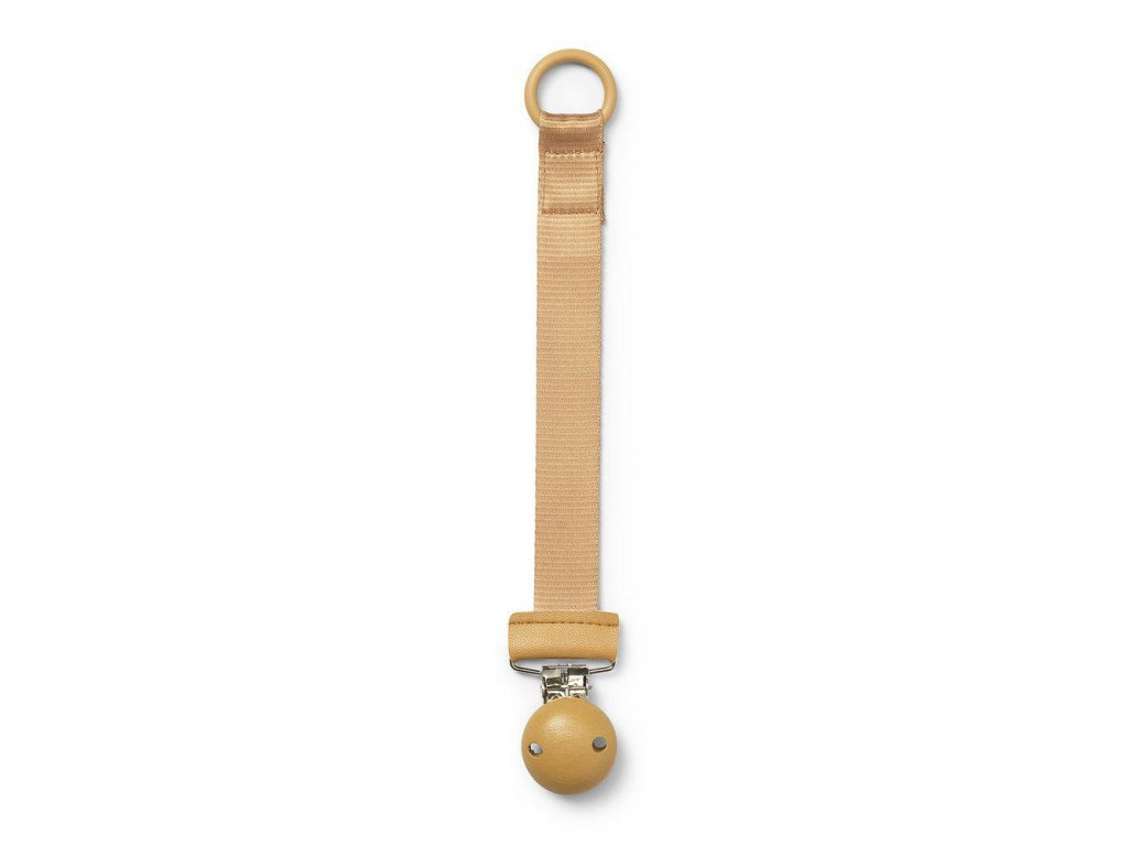 Pacifier clip wood gold