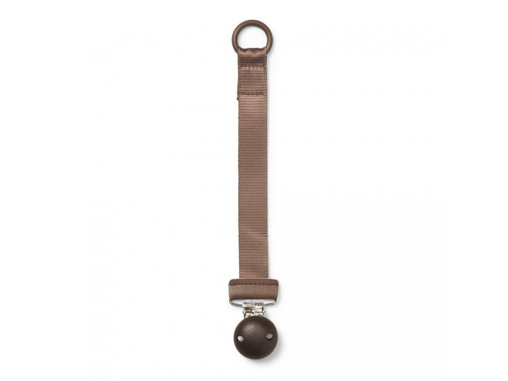 Pacifier clip wood chocolate