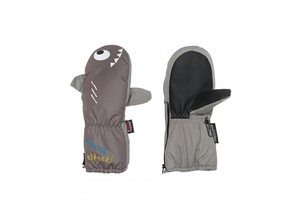 Dětské zimní rukavice Maximo žralok šedé