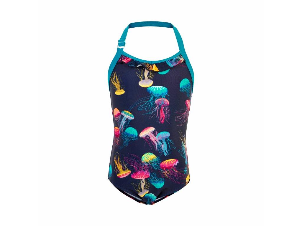 Dívčí jednodílné plavky Color Kids Tordis Marine