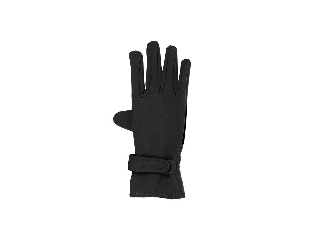 Kvalitní dětské zimní nepromokavé softshellové rukavice prstové Maximo v černé barvě