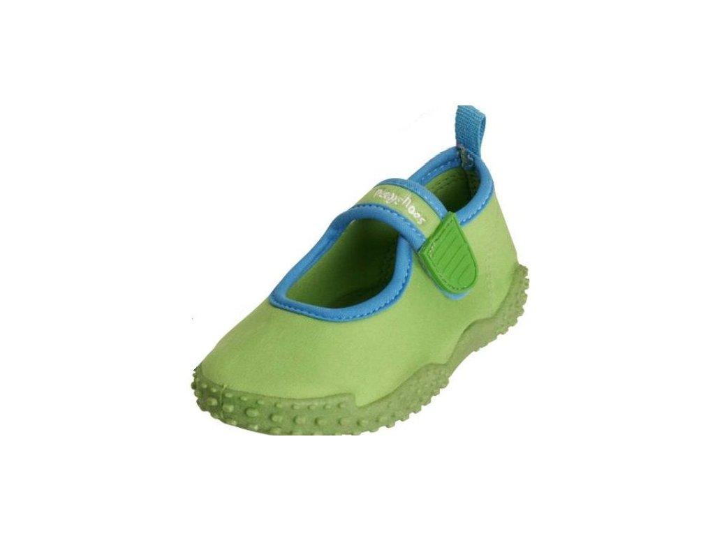 Boty do vody Playshoes - jednobarevné zelené