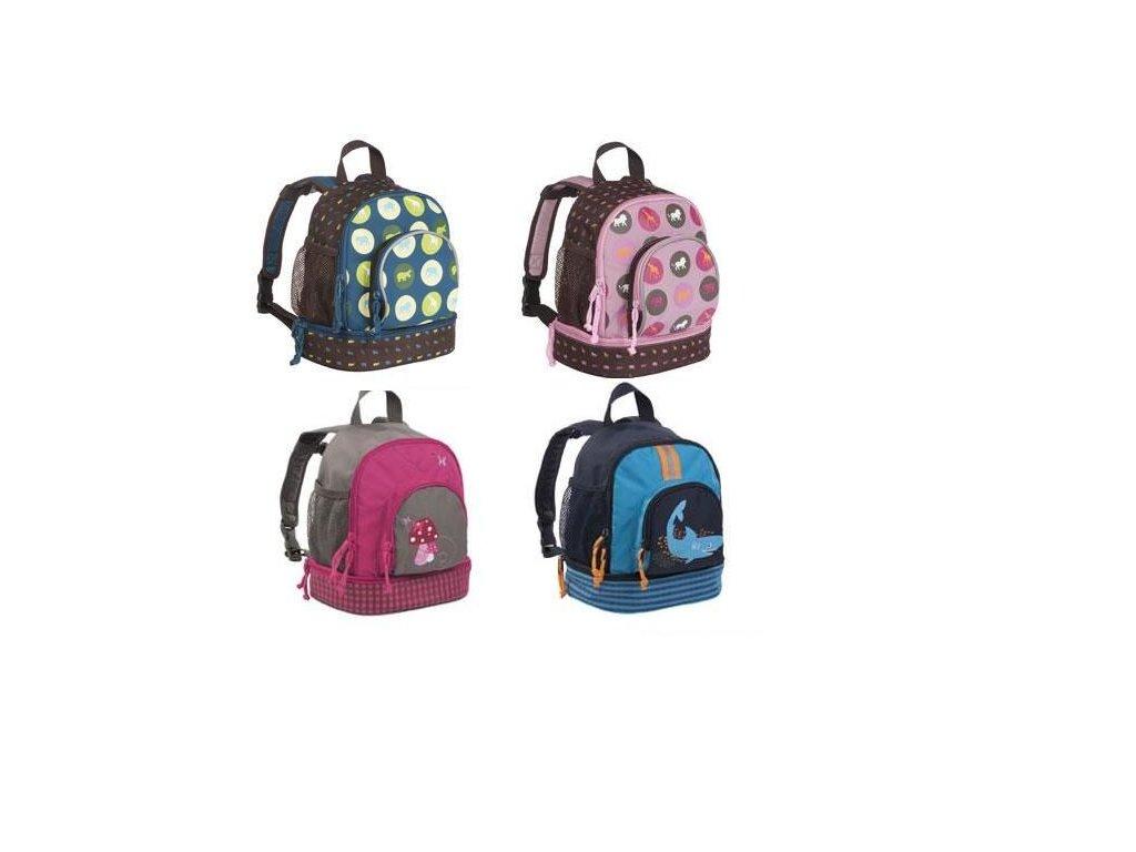 Kvalitní nylonový, komfortní a propracovaný dětský batoh pro předškoláky Lassig malý v různých barvách
