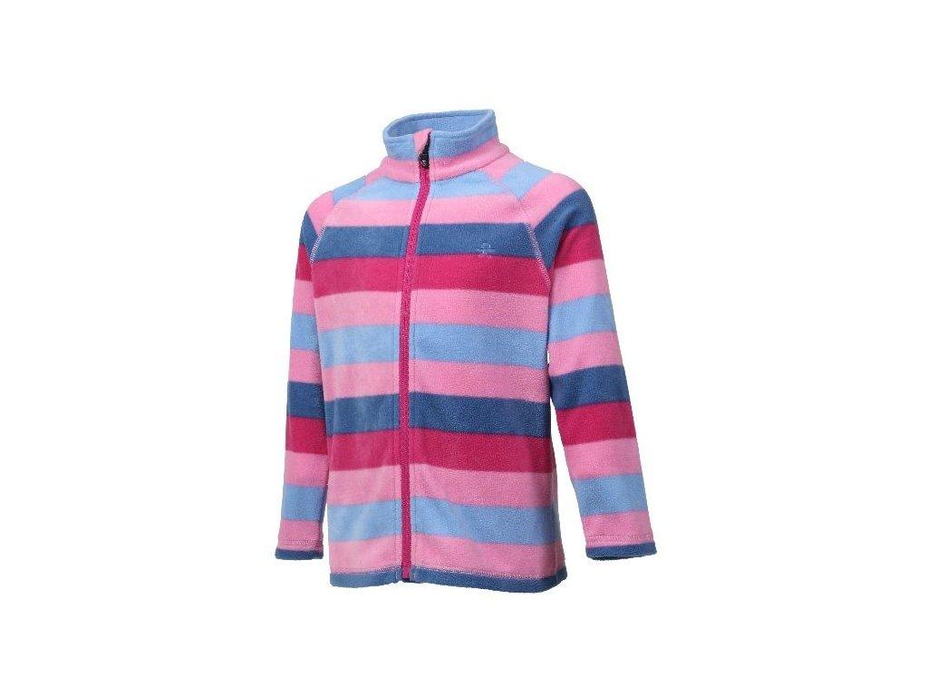 Kvalitní dětská hřejivá jarní fleecová mikina Color Kids Nelido - Fuchsia pink v růžové barvě