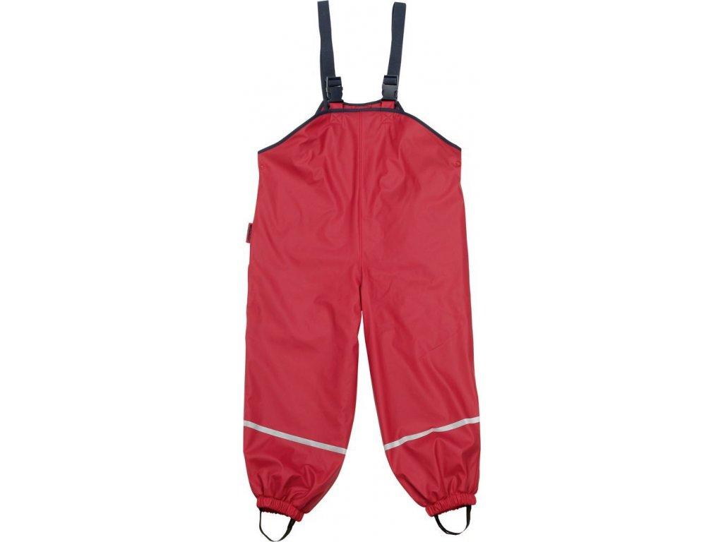 Kalhoty do deště s laclem Playshoes /červené/
